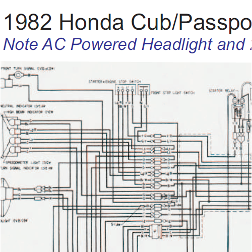 Honda C70 Passport Wiring Diagram : C honda wiring diagram get free image about