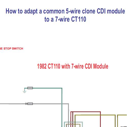 honda ct110 5 wire clone cdi module to a 7 wire ct110