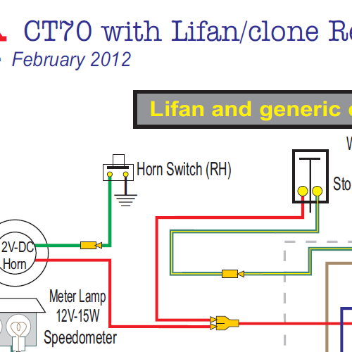 Honda CT70 Lifan & Clone Engine 12 Volt Wiring Diagram on