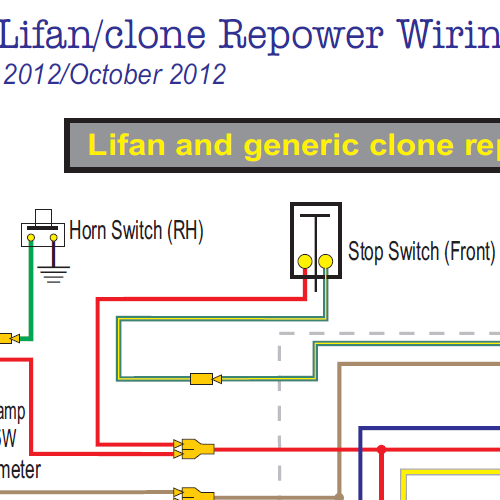 Honda ct lifan clone wiring diagram w electric starter