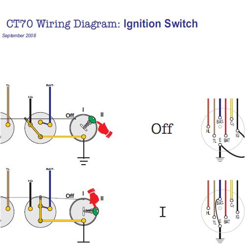 honda ct70 combination switch  3 modes