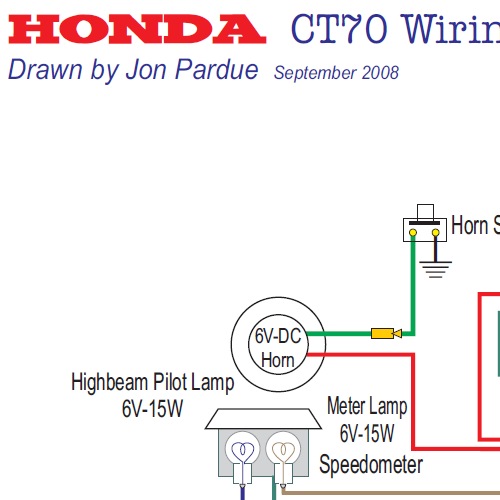 Honda CT70 Wiring Diagram-USA - Home of the Pardue Brothers