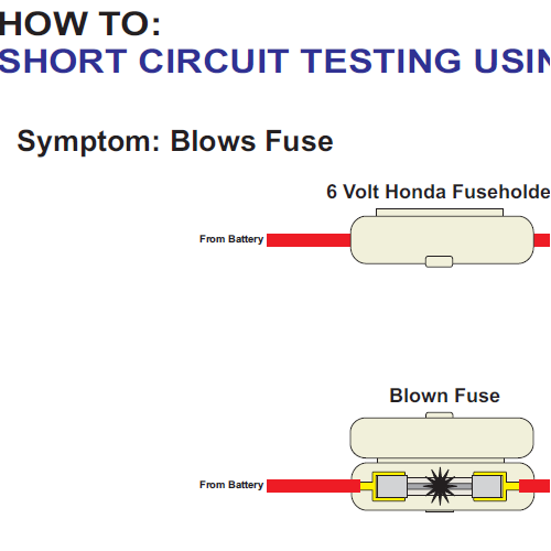 Short Circuit Test Honda 6 volt