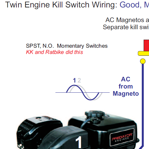 Minibike Twin Engine Kill Switch Diagram