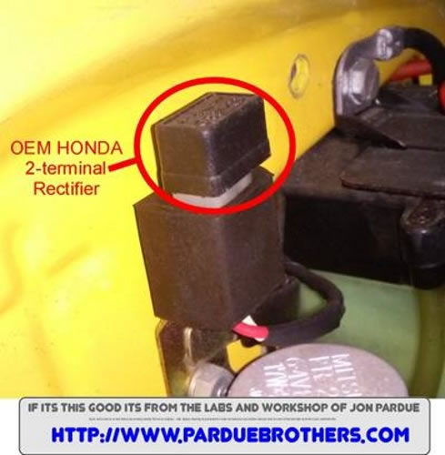 2 terminal honda plugin rectifier fits c70 • ct70 • 1980 & 1981, Wiring diagram