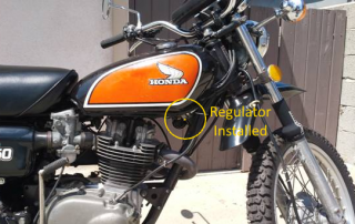 XL250 Regulator Installed