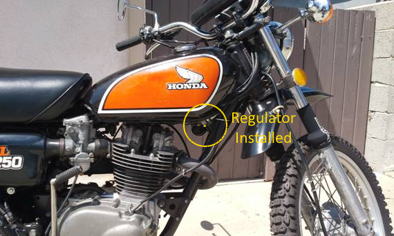 XL250 with Rectifier Installed