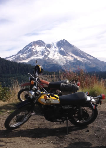 Yamaha DT400B at Mt Ranier