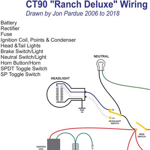 honda ct90 wiring schematic honda ct90 wiring diagram honda ct90 ranch wiring - home of the pardue brothers