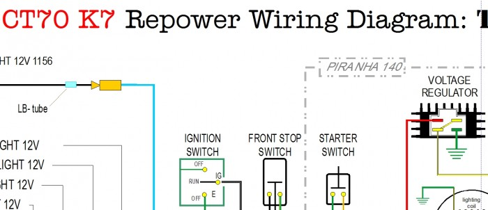 CT70 with Piranha 140 Color Wiring Diagram